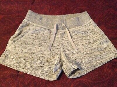 Girls 90 Degree Comfy Shorts Size 7 8 S Small Gray Cute Pockets Pull on GUC