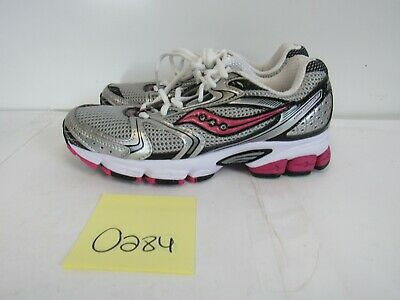 738fe8d6 Womens Saucony Grid Stratos 5 Gray White Pink Running Shoes Size 7M O284