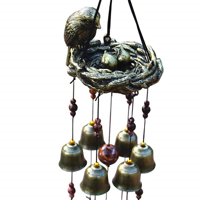 Topda Wind Chimes, Classic Retro Copper Alloy Bells Wind Chime Home and Garden