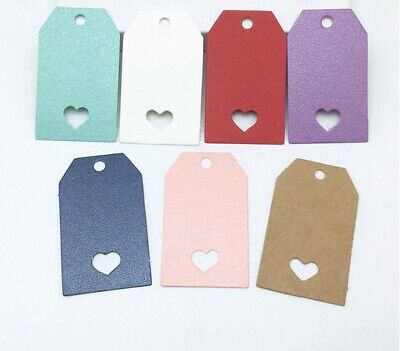Craft Paper Tags Hollow Love Heart Craft Gift Food Wedding Price Gift Tag 5x3cm