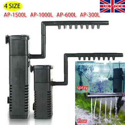 Hidom Internal Aquarium Fish Tank Filter Filtration Submersible Pump Spray Bar .