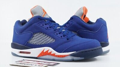 0a0e52c30c4 Air Jordan V 5 Retro Low Used Size 8 Knicks Deep Royal Orange 819171 417