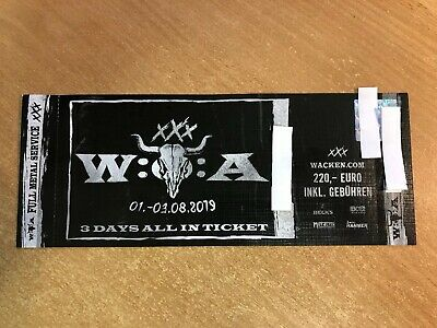 Wacken WOA 2019 - 3 Days All In Ticket