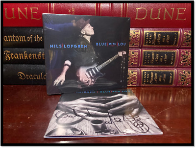 Blue With Lou ✎SIGNED♫ by NILS LOFGREN New Sealed CD with Autographed Booklet