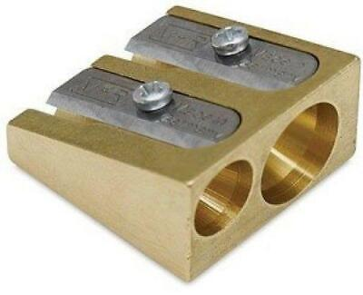 MOBIUS & RUPPERT SOLID BRASS PENCIL SHARPENER - Twin Wedge