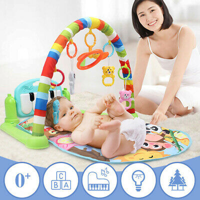 Baby Gym Play Mat Lay and Play 3 in 1 Fitness Music Lights Fun Piano Toy 2 Color