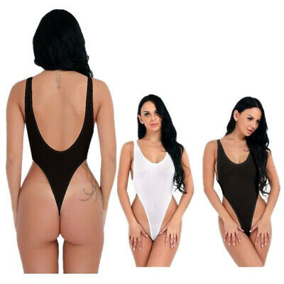 Women Sheer Lingerie Leotard Bikini Bodysuit Thong Monokini Swimwear Beachwear T