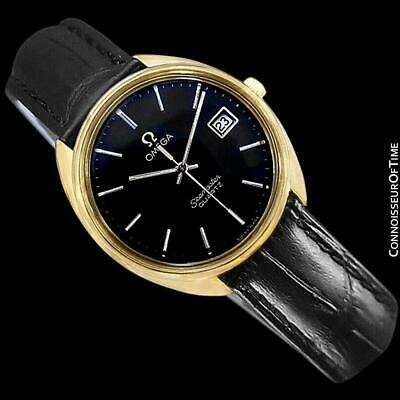 1978 OMEGA SEAMASTER Vintage Mens Full Size 18K Gold Plated Watch - Mint