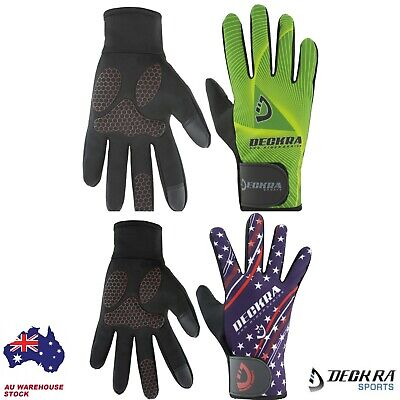 Deckra Winter Cycling Gloves Full Finger Touch Screen Silicone Gel Padded Unisex