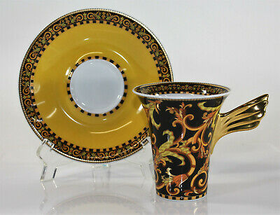 Versace Barocco by Rosenthal Paul Wunderlich Mythos Coffee Cup & Saucer + Box
