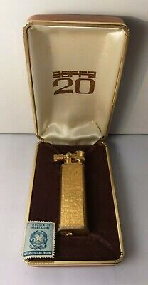 Accendino Saffa 20-Scatola/Box-Lighter-Mechero-Briquet-Feuerzeug-Old Vintage