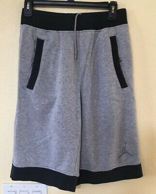 a157d918e51 Men's Nike Air Jordan Fleece Sweat Shorts Size Small Black And Gray  642453-010