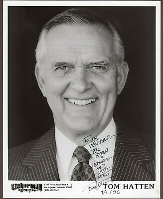 Tom Hatten Signed Autographed B&W Photo / Headshot from the Melchior Collection