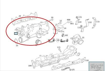MERCEDES-BENZ OM642 INLET MANIFOLD right A6420907737