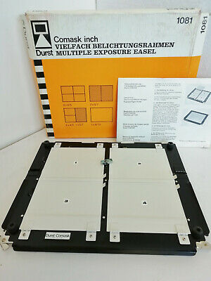 """Vintage Durst 1081 10x8"""" Multiple Aperture Exposure Easel Boxed Nice Condition"""