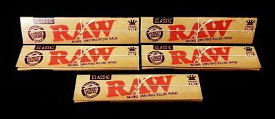 Wholesale lot 50 PACKS OF AUTHENTIC RAW ROLLING PAPER CLASSIC KING SIZE