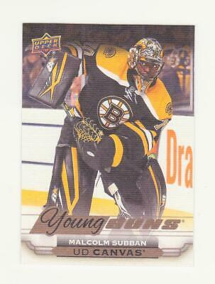 2015-16 UD Series 1 - Malcolm Subban Young Guns Canvas RC # C100 (15-16)