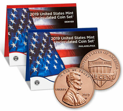 2019 US Mint Annual Uncirculated Coin Set  WITH W PENNY - US Mint *Presale*