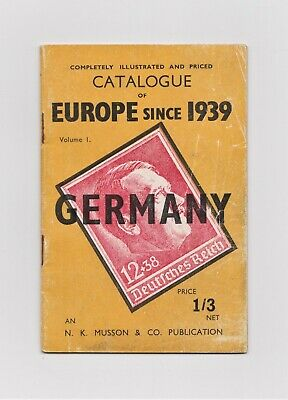 Germany, CATALOGUE of GERMAN WAR-TIME STAMPS 1939-1945, Musson, Third Reich