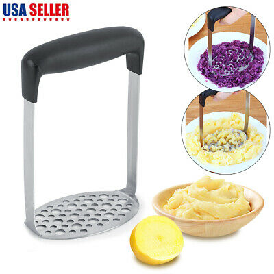 Stainless Steel Potato Masher Ricer Puree Fruit Vegetable Press Kitchen Tool US