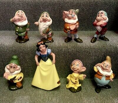 RARE American Pottery Co. 1946 Snow White & Seven Dwarfs Antique Ceramic Set