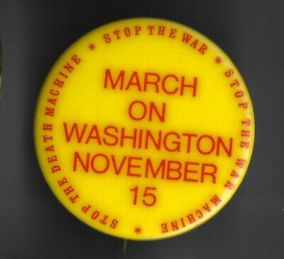 Stop Death Machine Stop the War/War Machine March on DC November 15 Protest Pin