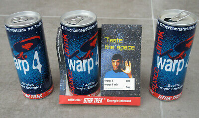 Star Trek WARP4 Space Drink dealer store display Enterprise Spock Scotty Tin Can
