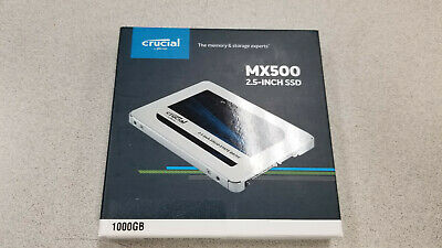 Crucial MX500 1TB SATA III 2.5 in Internal SSD (CT1000MX500SSD1)