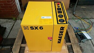 Kaeser SX6 5hp Rotary Screw Air Compressor 20CFM, 208V, 3 Phase