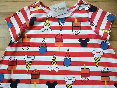 Nwt Hanna Andersson Disney Mickey Mouse Ice Cream Red Swing Dress 150 12, 130 8