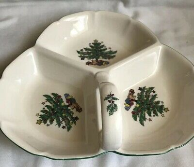 Nikko Happy Holidays 3 Section Serving Dish Candy Tableware Christmas