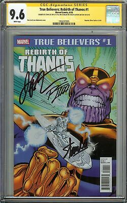 True Believers Rebirth of Thanos #1 CGC 9.6 SS 3x STAN LEE Silver Surfer REPRINT