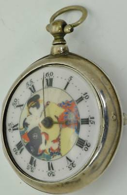 UNIQUE Qing Dynasty Chinese Verge Fusee pair case silver pocket watch c1804