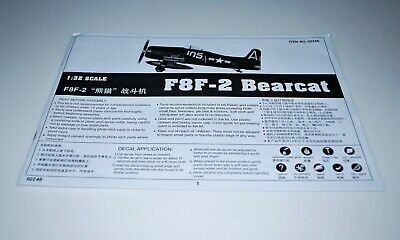 TRUMPETER F8F-2 BEARCAT 02248 *PARTS* SPRUE N CLEAR-FORWARD CANOPY+MORE 1//32
