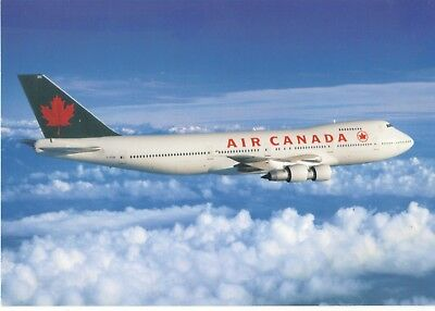 AIR CANADA Boeing 747-100 Airline issue 5x7 POSTCARD in Flight C-FTOC 1990's