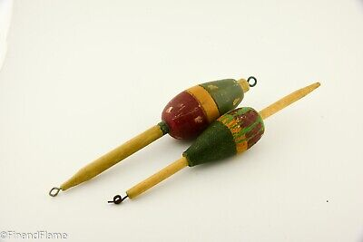 Vintage Lot of Wooden Antique Fishing Floats GH419