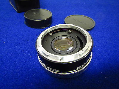 CANON VIVITAR AUTOMATIC TELE CONVERTER 2X-4   FL- FD Japan with Case