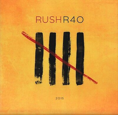 RUSH 2015 40th ANNIVERSARY TOUR CONCERT PROGRAM BOOK / NEAL PEART / NEAR MNT