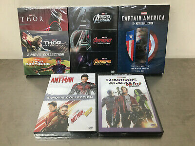 5 Marvel THE Avengers Ant Man Thor Captain America  2 / 3 Movie Collection DVD