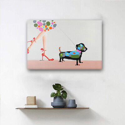 60*90cm Handmade With Frame On Canvas Wall Art Deco Modern Abstract Oil Painting