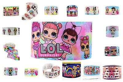 "Lol Surprise Dolls & Pets 3'"" Grosgrain Ribbon For Hair Bows Crafts Xmas Lol"