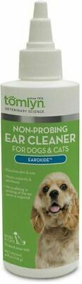 Tomlyn Medicated Earoxide Effective and painless Pet Ear Cleanser dogs & Cat 4oz