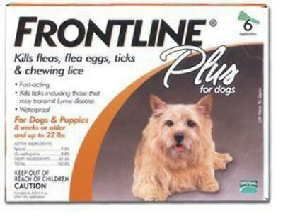 Frontline Plus Dogs 0-22 lbs 6pack 6 months supply EPA USA No expiration