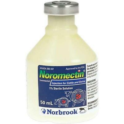 Noromectin Injection Control of  Parasites in Cattle & Swine 50 ML