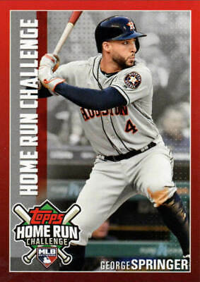 2019 Topps Series 1 GEORGE SPRINGER Home Run Challenge UNSCRATCHED CODE HRC-28