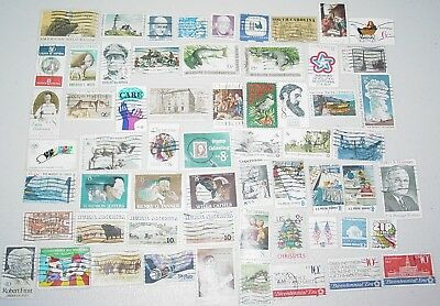 60 Used Stamps United States 1970-1974
