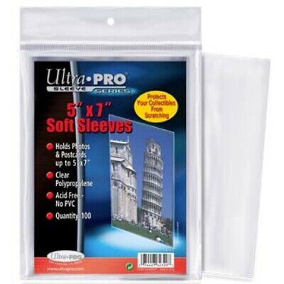 "Ultra Pro 5"" x 7"" Soft Sleeves protection for photos, postcards, 100 count 5x7"