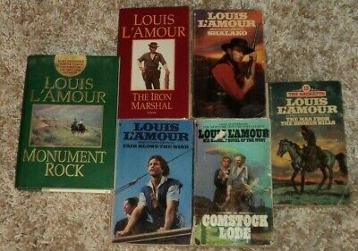"""LOUIS L'AMOUR """"WESTERN"""" BOOK COLLECTION - Lot of 6 - Great Reading"""