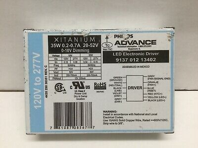 Philips Advance 913701213402 LED Electronic Driver 35W 0.2-0.7A 20-52V