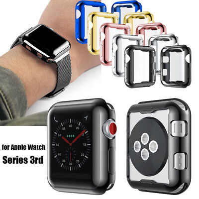 For Apple Watch 3 Silicone TPU Protector Case Clear Skin Cover 38/42mm